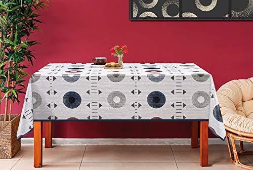 De'Carpet Mantel Hule Estampado Rectangular Redondo Étnico (100x140cm)
