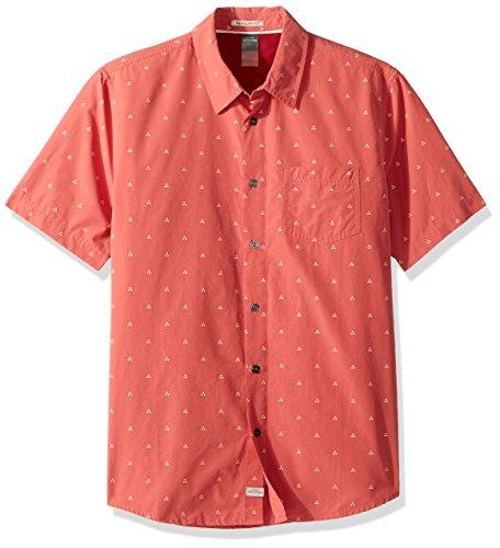 Quiksilver Herren Trailblazed Tribal Right Woven Top Button Down Hemd, Mineralrot, Mittel
