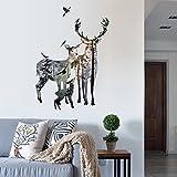 Vinilo adhesivo siluetas ciervos y bosque para decoracion caravanas, autocaravanas, camiones, furgonetas, escaparates, habitaciones. Acabado 1. 10 x 80 cm chpyhome
