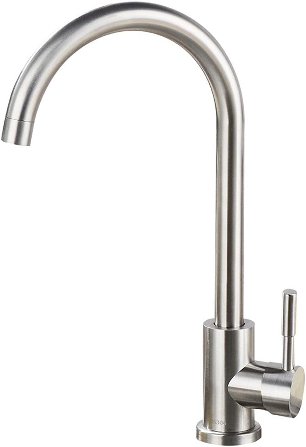 Decorry Lead 304 Stainless Steel Cold Kitchen Faucet 360 Degree redation Lavatory