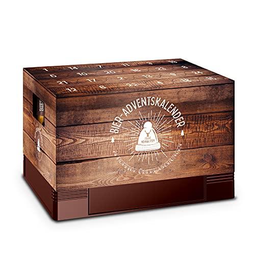 itenga Adventskalender Aufsatz für Bierkasten Männer Adventskalender zum Selber Befüllen Bieradventskalender in Holzkistenoptik