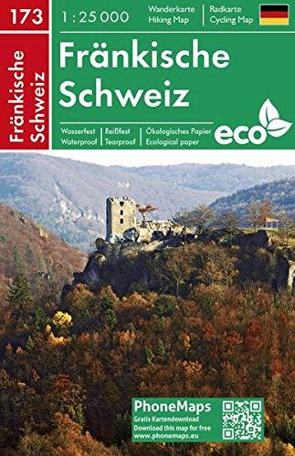 Fränkische Schweiz, Wander - Radkarte 1 : 25 000 (PhoneMaps Wander - Radkarte Deutschland, Band 173)