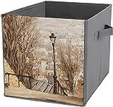Große faltbare Aufbewahrungskörbe im Grassland-Giraffen-Landschaftsmuster, Aufbewahrungskörbe für Zuhause, Regale, Schrank, Schrank, weiß