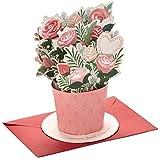 Hallmark Paper Wonder Pop Up Valentines Day Card, Displayable Bouquet (Happy Heart)