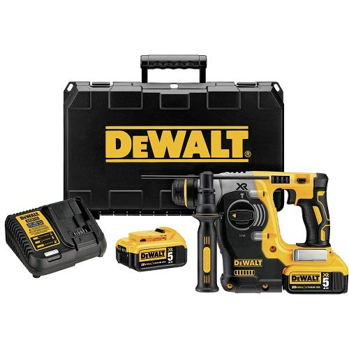 DEWALT 18 V XR Brushless 24 mm, 2 kg SDS-Plus Hammer, 2 x 5 Ah