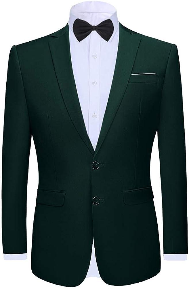 Boyland Men's 2 Pieces Suit Shawl Lapel Tuxedo One Button Tux Jacket Suits Bowtie Dinner Wedding