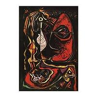 アンドレマッソン《ラソルシエール》キャンバスアート油絵アートワークポスター写真ウォールデコレーション室内装飾-50x75cmフレームなし