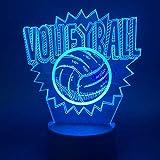 DFDLNL Lámpara Visual 3D Luz de Noche de Voleibol para niños Lámpara de Sala de Estar Juego Deportivo Luces nocturnas Novetly Gift para niños Luz de Noche led