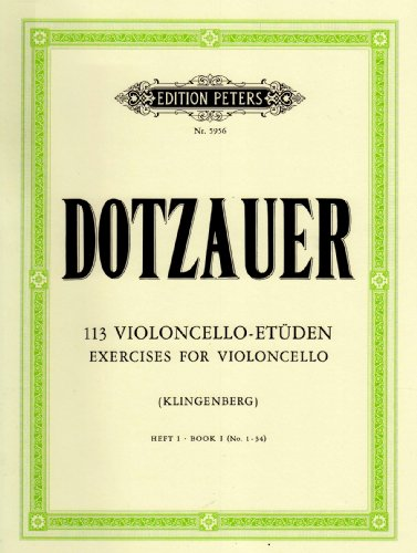 113 Violoncello-Etüden: Heft 1: Nr. 1 -34 (Grüne Reihe Edition Peters)
