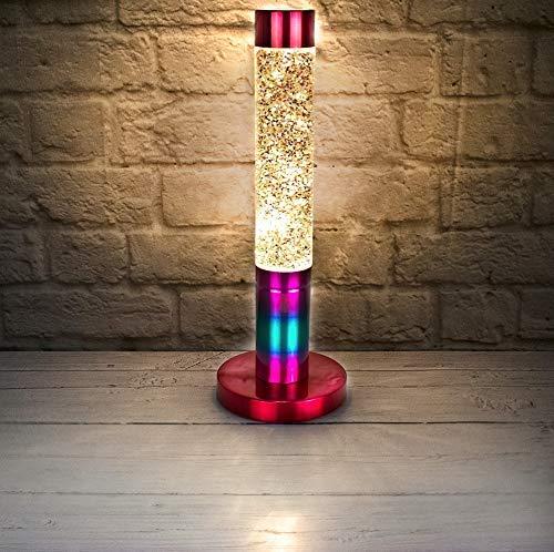 Lava-Lampe mit Glitzer - Regenbogenfarben
