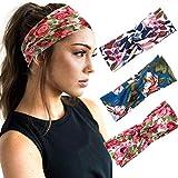 Zoestar Boho Criss Cross Stirnbänder geknotet Kopf Wrap Floral Gedruckt Haar Schal Stylisch...