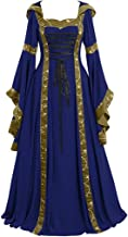 Women's Gothic Cosplay Dress Vintage Celtic Medieval Floor Length Renaissance Dress