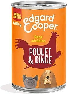Edgard & Cooper Boite Patée Chien Adulte Sans Cereales Nourriture Naturelle 400g Poulet et Dinde Frais, Alimentation Saine...