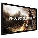 Chrisun Écran De Projection 92pouces / 100pouces / 120pouces / 135pouces 16: 9 Écran De Projection 3D à Cadre Fixe pour écran De Projection 4K HDTV écran Projecteur (100 Pouces)