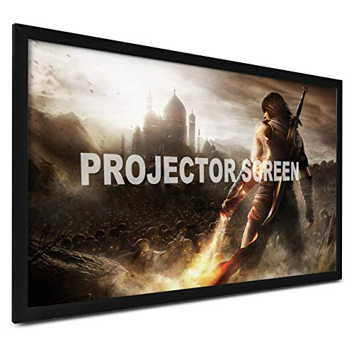"""VEVOR 100"""" Diagonal Projector Screen 16:9 4K HD Outdoor Projector Aluminum Frame Portable Projector Screen Screen Wall Mount for Home Threater Outdoor Use"""