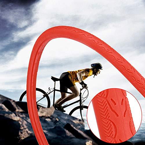 DEBBD 700 x 23c Fahrrad Vollgummireifen Rennrad Reifen Mode Fahrrad Radfahren Tubless Riding Solid Reifen für Rennrad Fixed Gear