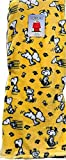 Berkshire Home & Blanket Co. Peanuts Gang Snoopy Happy Dance with Paw Prints Velvet Soft Plush Throw Blanket   50' x 70'   Yellow