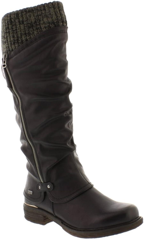 Rieker 98956-00 black (Black) Womens Boots