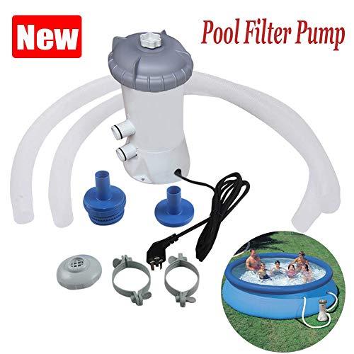 HUILING Pool Filterpumpe, 220V Zuhause Schwimmbad Wasserreiniger Cartridge Filter Pump Elektrisch Filter Wasserumwälzpumpen Reinigen Werkzeug Schwimmbadpumpe