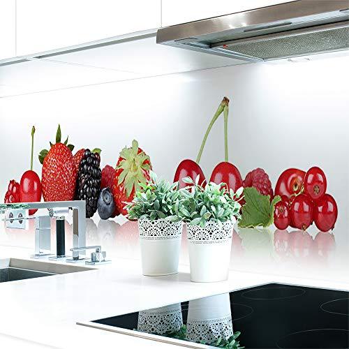 Küchenrückwand Beeren Premium Hart-PVC 0,4 mm selbstklebend 340x60cm