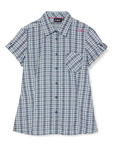 CMP Damen Short-Sleeved Shirt with Pocket Hemd, Petrol-Bouganville, D44