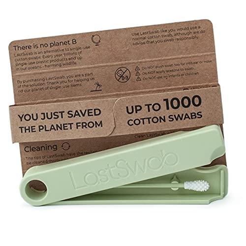 LastSwab Coton Tige Réutilisable pour les Oreilles de LastObject - Coton Tige Ecologique Q-tip - Conçu au Danemark - Cure Oreille - Zero Dechet