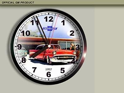 1957 Chevrolet Chevy Bel Air Wall Clock E028
