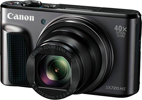 Canon PowerShot SX720 HS Digitalkamera (20,3 MP, 40-fach optischer Zoom, 80-fach ZoomPlus, 7,5cm (3 Zoll) Display, CMOS-Sensor, optischer Bildstabilisator, WLAN, NFC, HDMI, Full-HD-Videos) schwarz