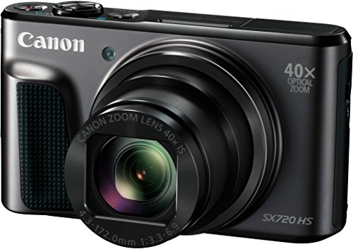 Canon PowerShot SX720 HS Digitalkamera (20,3 MP, 40-fach optischer Zoom, 80-fach ZoomPlus, 7,5cm (3 Zoll) Display, CMOS-Sensor, optischer Bildstabilisator, WLAN, NFC, HDMI, Full-HD-Videos) schwarz