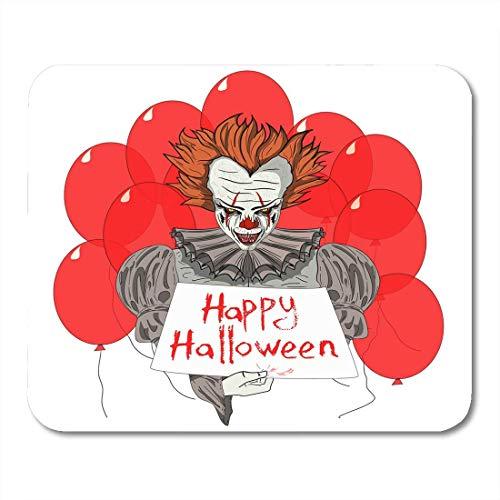 Muispads griezelig karakter Böser Clown met rode ballonnen