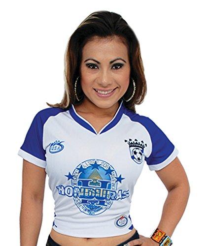 Arza Sports Honduras Women Soccer Jersey (Medium, White)