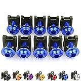 JIEWEI nuevo Motorbike CNC 10PCS 6mm clips de cierre tornillo tuercas de resorte para ap.ri.la rsv4 tuono 1000 r v4 rsv 1000 r Calidad premium (Color : Blue)