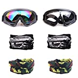 YAAVAAW 2Pcs Children's Safety Glasses and 4Pcs Adjustable Multi-purpose Masks,Kids Outdoor Game Protective Goggles Safety Goggles Eyewear,for Nerf Guns N-Strike Elite Series Foam Blasters Gun