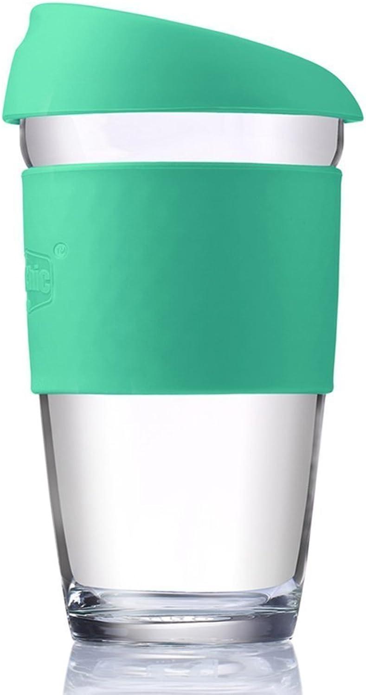 HuSuper Glass Mug Reusable Coffee Cup