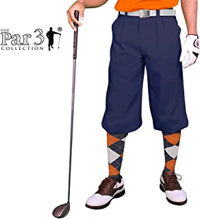 Golf Knickers Navy Mens 'Par 3' - Microfiber
