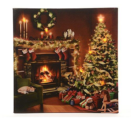 zeitzone LED Bild Heiligabend Weihnachtsbaum Weihnachten Wandbild