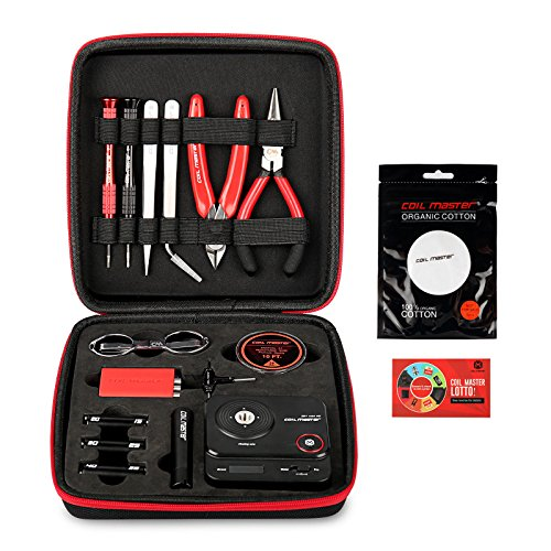 Coil Master DIYV3Wickelzubehör-Set, V3Werkzeug-Set mit Wickelhilfe (V4)/521Tab Mini-Ohm-Messgerät/Pinzette/Hitzebeständigem Draht