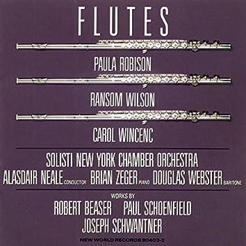 Beaser/Schoenfield/Schwantner: Flutes