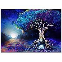 Psychedelic Forest Color Fantasy Landscape Carteles e impresiones como decoración del hogar 60x80cm