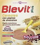 Blevit Plus Trocitos Cereales con Pepitas de Chocolate, 1 unidad600 gr. A partir de los 12 meses. Sus primeros cereales para masticar