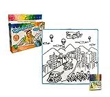 121768 Alfombra juega y colorea CITTA lavable 50 x 50 cm colores incluidos