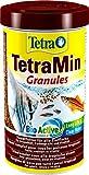 tetramin granules mangime per pesci sotto forma di granuli fini per tutti i pesci ornamentali d'acqua dolce, 500 ml