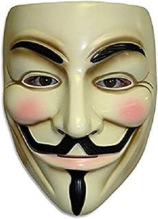 زي تنكري فاخر من ZLLJH V for Vendetta Mask Guy Fawkes Anonymous Halloween Mask Fancy Dress
