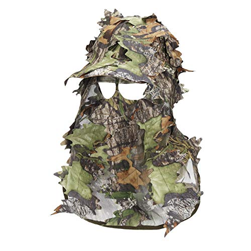 North Mountain Gear Mossy Oak Camouflage 3D Leafy Hunting Hat with Face Mask (Obsession)