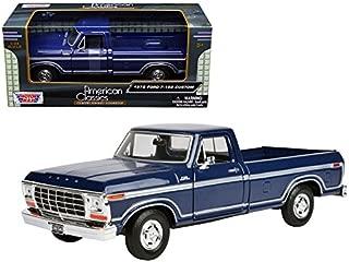 1979 Ford F-150 Pickup Truck Blue 1/24 Diecast Model Car by Motormax