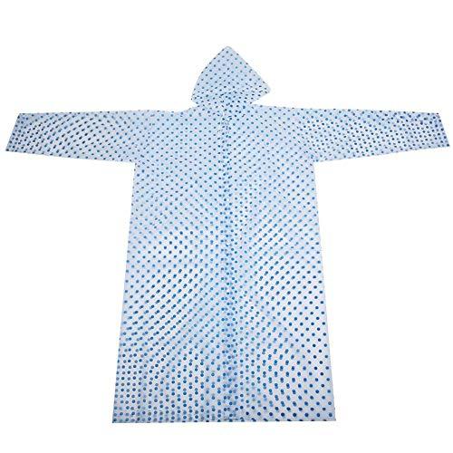 Qinlorgo Imperméable Adulte, imperméable écologique imperméable Coupe-Vent Adulte imperméable à la Mode(Bleu)