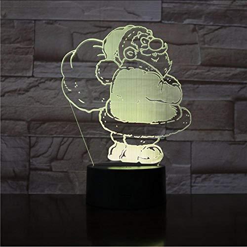 Bedside Table Lamps Luminaria Led 3D Led Lamp Christmas Gift Lamp for Children Santa Claus Kids Room Light 3D Lamp