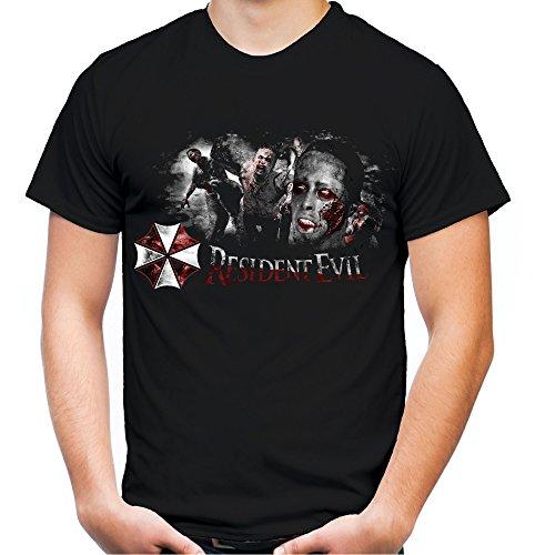 Resident Evil Männer und Herren T-Shirt | Umbrella Corporation Zombie ||| M3 (L, Schwarz)