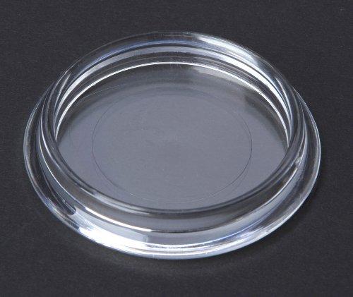 4 Stück Möbeluntersetzer, Möbelschutz Bodenschutz Kunststoff transparent Innendurchmesser 50mm, für glatte Böden im Innen- und Aussenbereich und für Teppich geeignet