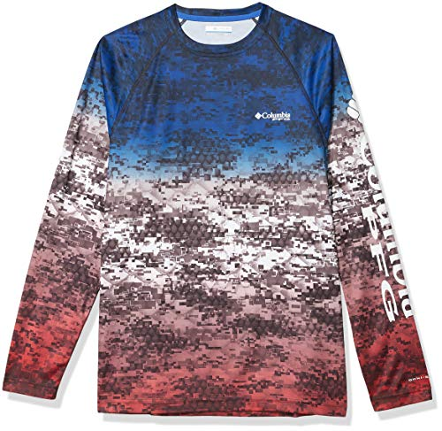 Columbia Men's Super Terminal Tackle Long Sleeve Shirt, Americana Digi Camo Fade, XX-Large